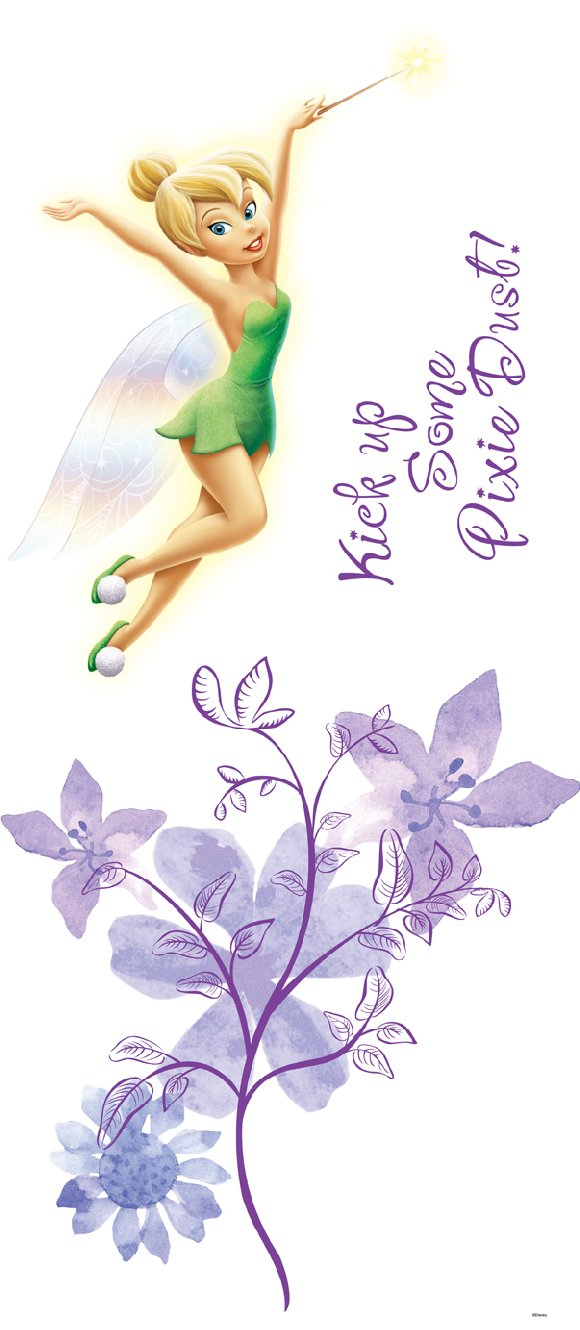 Tinker Bell Fairies Self Stick Giant Wall Sticker - Wall Sticker Outlet