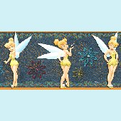 Denim Tinker Bell Prepasted Wall Border