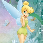Very Fairy Tinker Bell Prepasted Growth Chart SALE