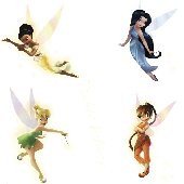 Fairy Tinker Bell Glow in the Dark Mini Mural
