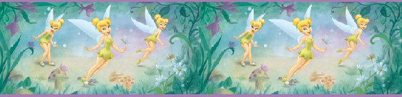 Very Fairy Tinker Bell 5-inch Wall Border - Wall Sticker Outlet