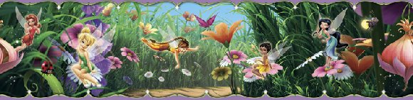 New Fairies Movie Tinker Bell 5-inch Wall Border - Wall Sticker Outlet