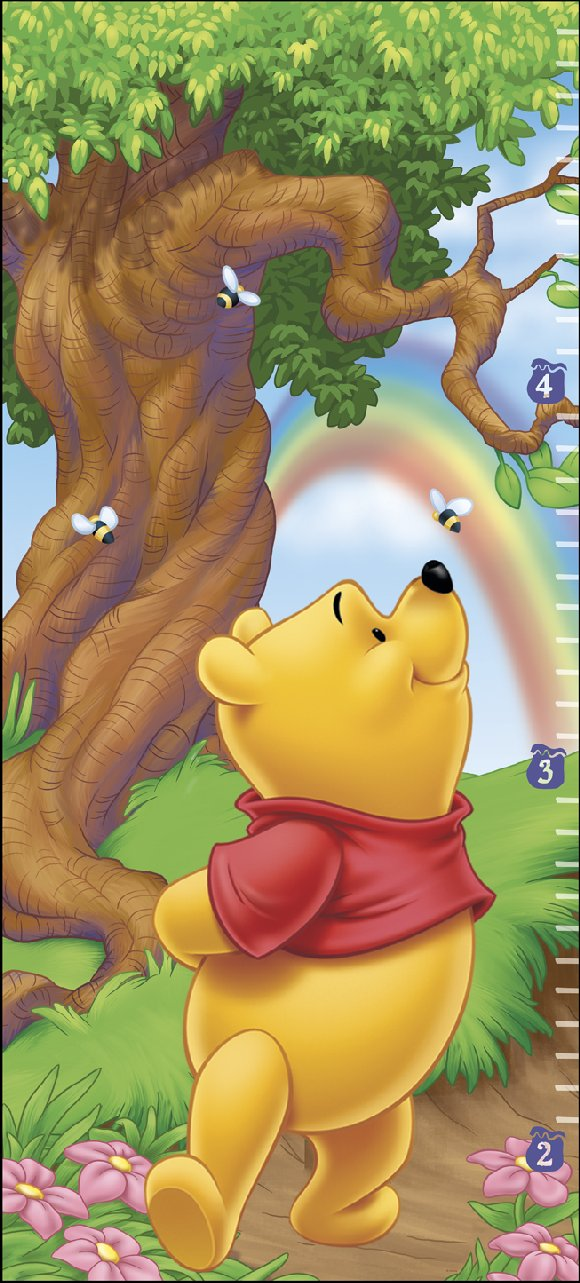 Winnie the Pooh Self Stick Growth Chart - Kids Wall Decor Store
