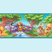 Winnie the Pooh Scenic Wall Border
