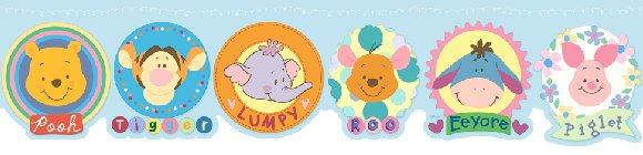 Winnie the Pooh Heffalump Prepasted Wall Border - Wall Sticker Outlet