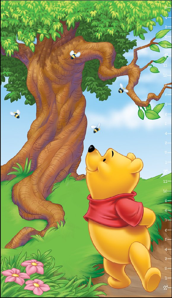 Winnie the Pooh Scenic Growth Chart - Kids Wall Decor Store
