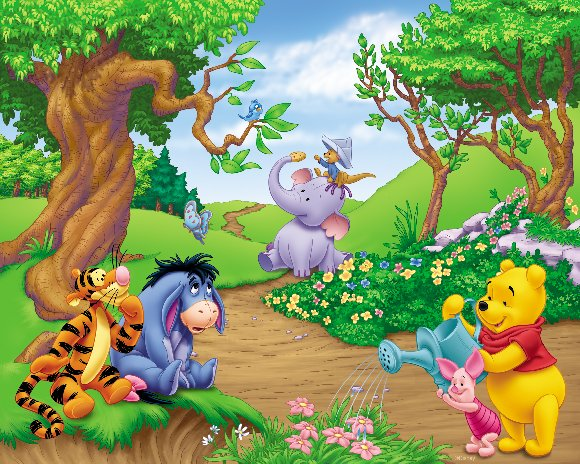 Winnie the Pooh Scenic Prepasted Wall Mural - Wall Sticker Outlet