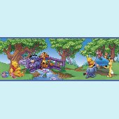 Winnie the Pooh Scenic 5-inch Wall Border