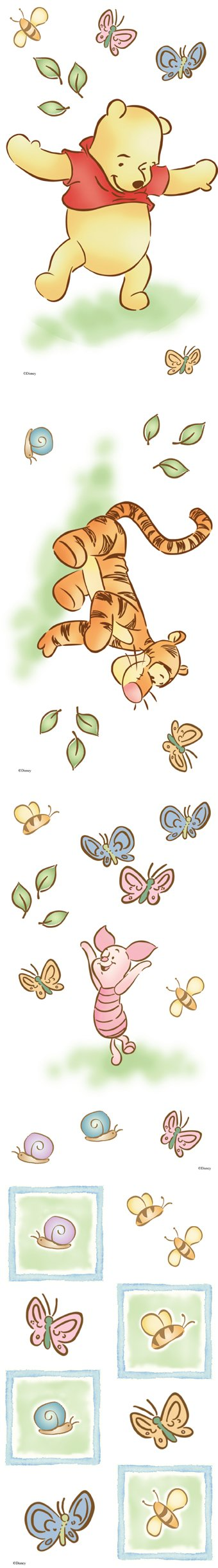 Lazy Daze Winnie the Pooh Room Appliques - Wall Sticker Outlet