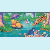 Winnie the Poo Swimming Hole Prepasted Wall Border