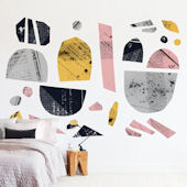 Minted Boats on River Repositionable Wall Mural