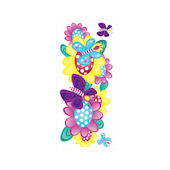 Butterfly Garden Peel and Stick Jumbo Appliques