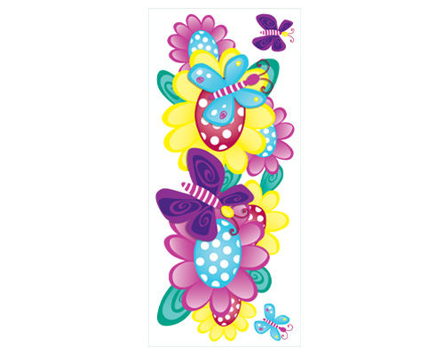 Butterfly Garden Peel and Stick Jumbo Appliques - Kids Wall Decor Store