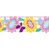 Butterfly Garden Peel and Stick Wall Border SALE