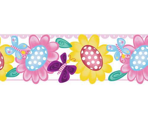 Butterfly Garden Peel and Stick Wall Border SALE - Wall Sticker Outlet