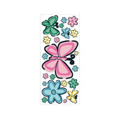 Bedtime Butterfly Peel and Stick Jumbo Appliques