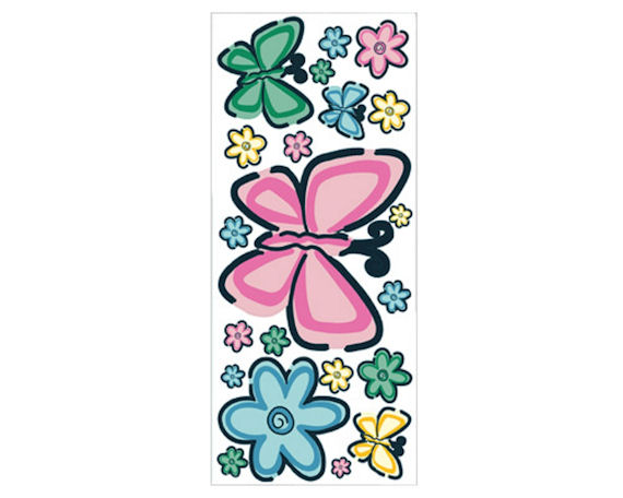 Bedtime Butterfly Peel and Stick Jumbo Appliques - Wall Sticker Outlet