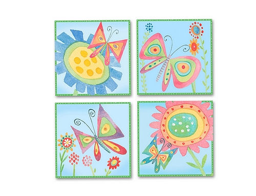 Butterfly Meadow Peel and Stick Wall Impressions - Kids Wall Decor Store