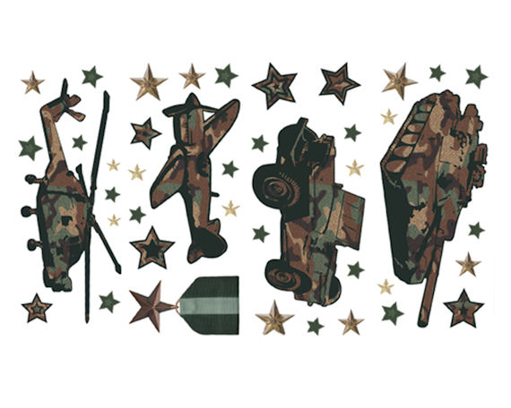 Camo Peel And Stick Wall Sticker Appliques Kids Wall Decor Store