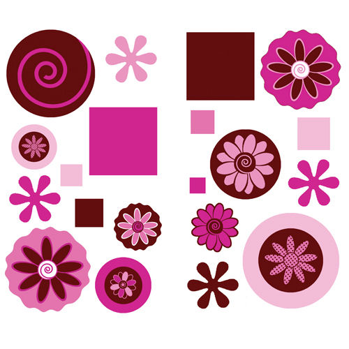 Chocolate Swirl Wall Sticker Appliques - Wall Sticker Outlet