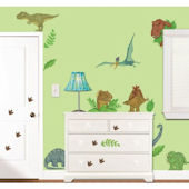In Dinosaur Land Wall Sticker Kit