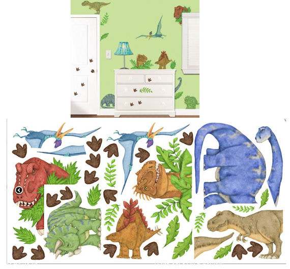 In dinosaur land wall sticker kit for Dinosaur mural kit