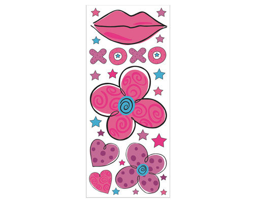 Hugs and Kisses Peel and Stick Jumbo Applique - Kids Wall Decor Store