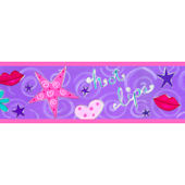 Hot Lips Peel and Stick Wall Border