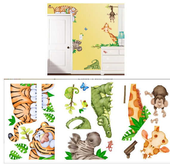 In The Jungle Wall Sticker Kit - Wall Sticker Outlet