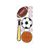 Lets Play Ball Peel and Stick Jumbo Applique