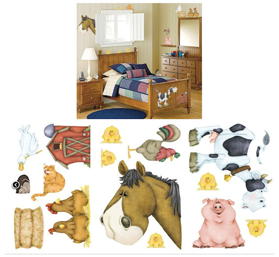 On The Farm Wall Sticker Kit - Wall Sticker Outlet