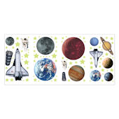 Outer Space Peel and Stick Wall Sticker Appliques