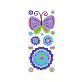 Patchwork Purple Peel and Stick Jumbo Applique