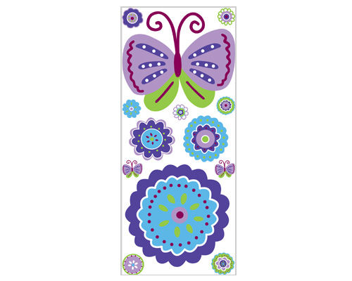 Patchwork Purple Peel and Stick Jumbo Applique - Wall Sticker Outlet