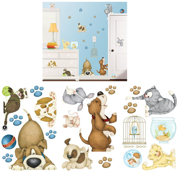 Pet Shop Wall Sticker Kit - Wall Sticker Outlet