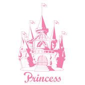 Princess Castle Peel and Stick Jumbo Applique