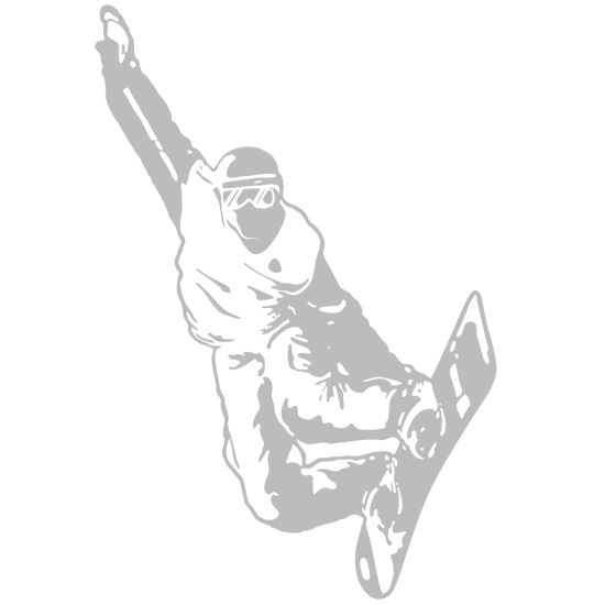 Snowboarder Sudden Shadows Wall Decals - Kids Wall Decor Store