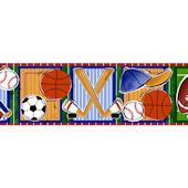 Sports Fun Peel and Stick Wall Border