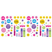 Techie Girl Peel and Stick Wall Sticker Appliques