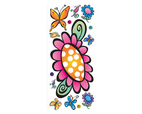 Whimsy Garden Peel and Stick Jumbo Applique - Wall Sticker Outlet