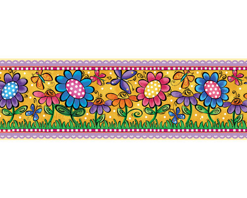 Whimsy Garden Peel And Stick Wall Border