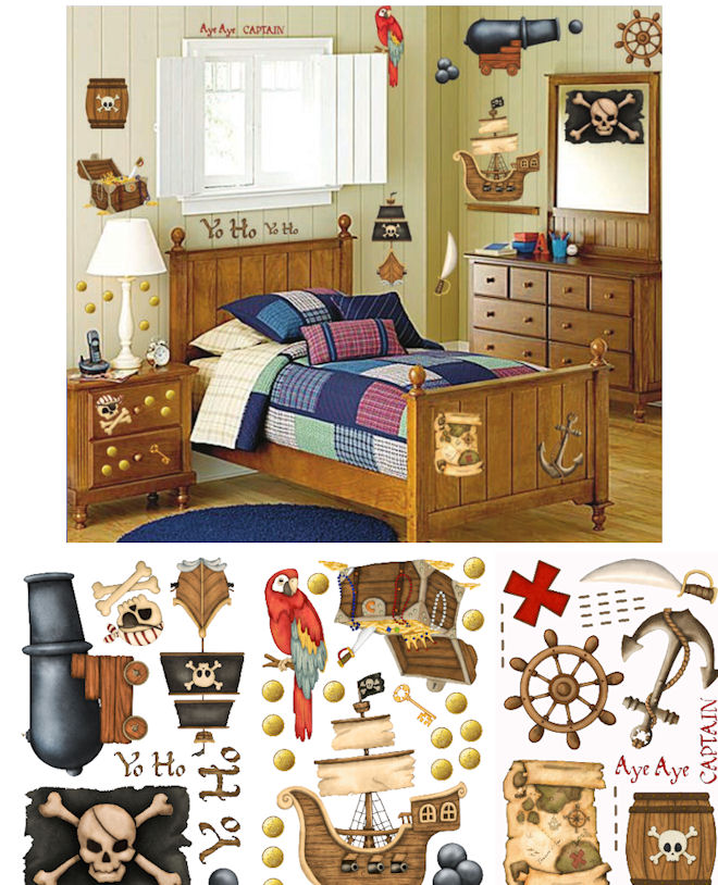 Pirate Treasure Wall Sticker Room Kit - Wall Sticker Outlet