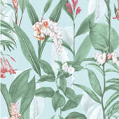 Graham and Brown Botanical Duck Egg Wallpaper