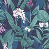 Graham and Brown Botanical Midnight Wallpaper