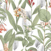 Graham and Brown Botanical Powder Wallpaper
