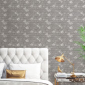 Brass Belly Silver Peel Stick Wallpaper