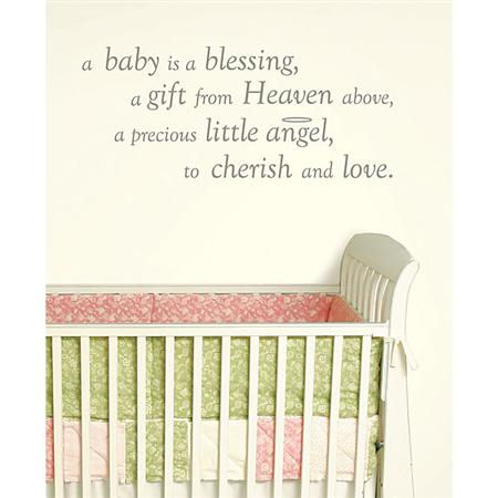 A Baby is A Blessing Wall Wishes Sticker - Wall Sticker Outlet