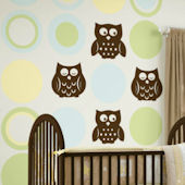 Wall Pops Baby Pastel Dot and Owls Room Package