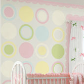 Wall Pops Baby Girl Dots Room Package