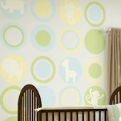 Wall Pops Baby Pastel Dots Jungle Room Package